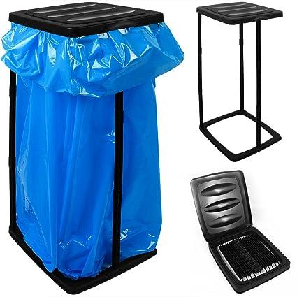 Soporte de plástico para bolsas de basura max. 60 L - 70x35x30cm Papelera Color negro