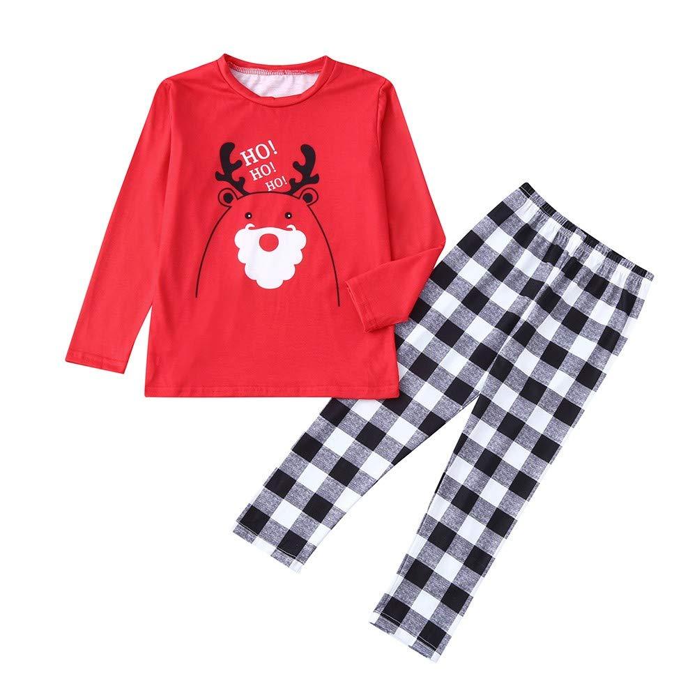 INNEROSE ❤ Per Neonati Abbigliamento Neonato Vestiti, Pezzi di Natale Bambini Lettera del Fumetto Cervi Top + Pantaloni Famiglia Pigiami Vestiti