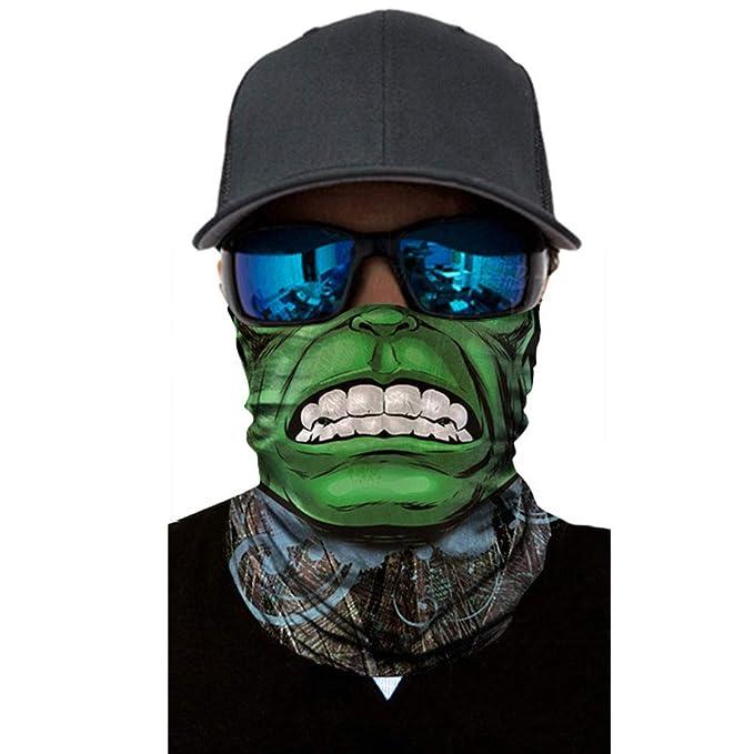 Beautyrain 3D Seamless Multifunción Payaso Joker Hombres Cráneo ...