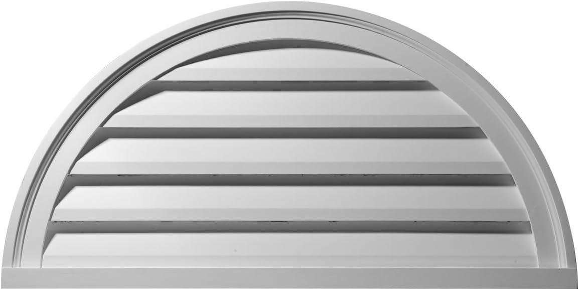 Ekena Millwork Gvhr40f Half Round Gable Vent Louver 40 W X 20 H X 1 1 4 P Factory Primed White Heating Vents Amazon Com