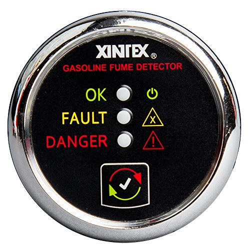 (Fireboy-Xintex Xintex Gasoline Fume Detector & Alarm w/Plastic Sensor - Chrome Bezel Display)