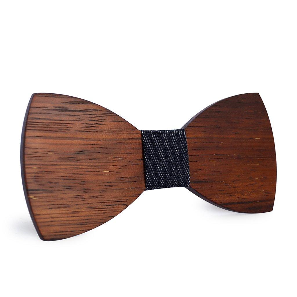 Mahoosive Men's Classic Handmade Wood Bow Tie