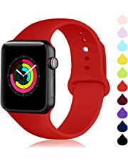 CHGUS Compatible with Apple Watch Band 38mm 42mm 40mm 44mm Sport Band for Women Men, Silicone Sport Strap Replacement Bands for iWatch Apple Watch Series 4/3/2/1, S/M, M/L