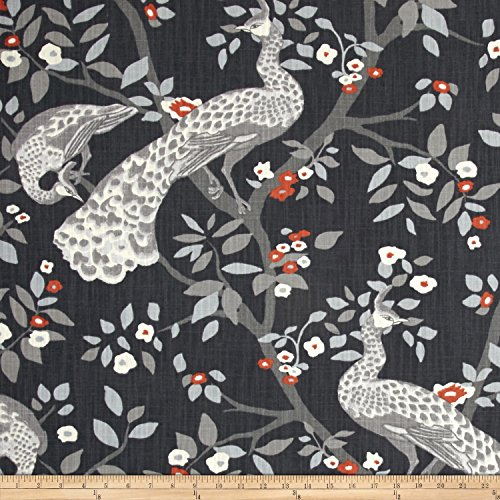 Dwell Studio Plume Redux Storm Fabric by The Yard ()