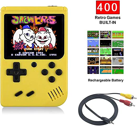 WFGZQ Consola De Juegos Retro Portátil con 400 Consolas De ...