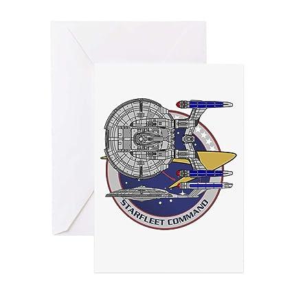 Amazon.com : CafePress Enterprise Starfleet Command Greeting ...