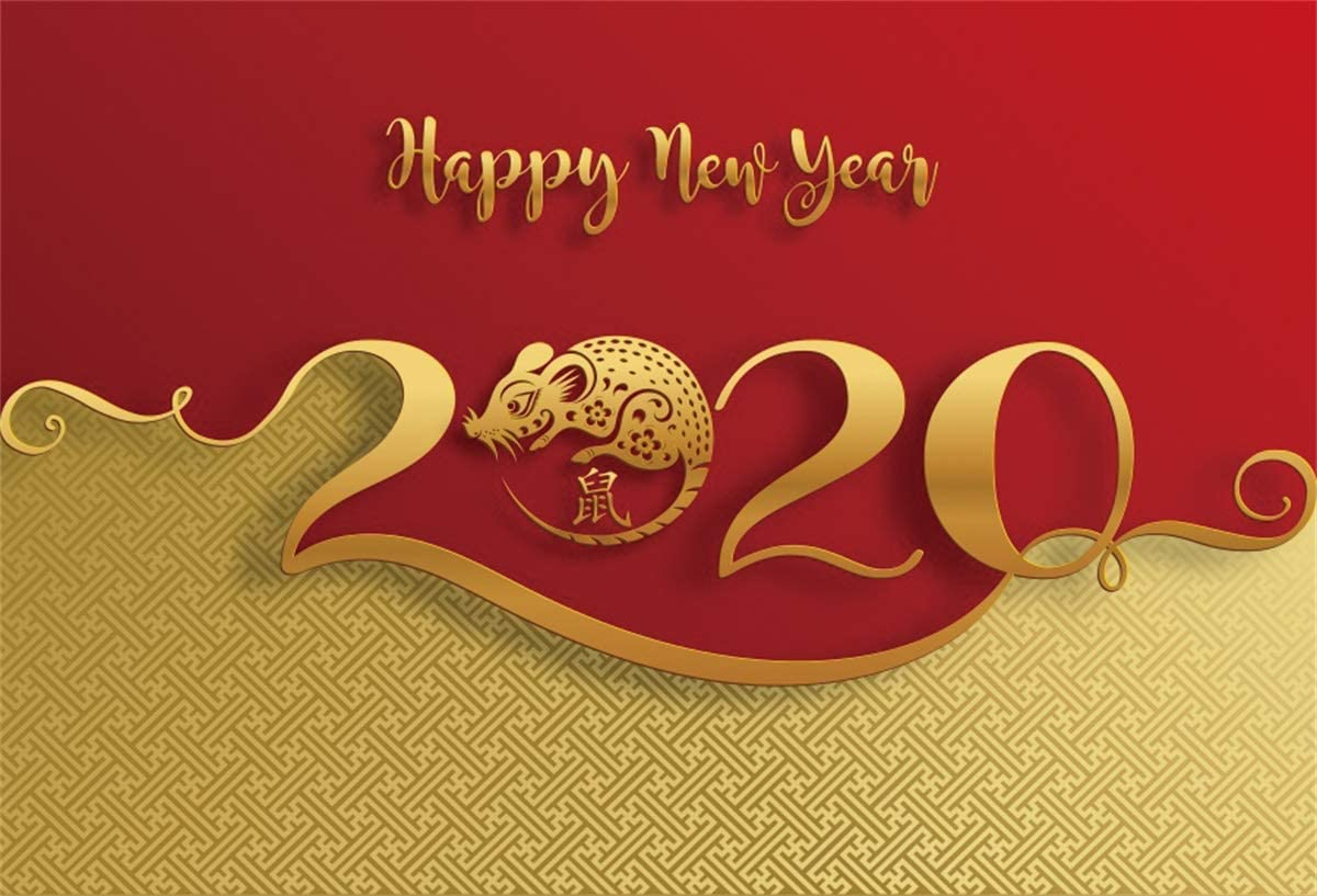 Yeele Chinese New Year Photos Backdrop 10x8ft Year of The Rat Paper Cut Style Photography Background Spring Festival 2020 Events Photo Booth Banner Photoshoot Props Holiday Picture Wallpaper Poster