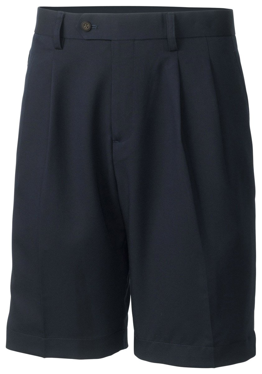 Cutter and Buck Men's Big and Tall Double Pleated Short, Navy Blue, 46B