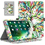 MoKo Case for Apple iPad 9.7 Inch 2018/2017(iPad5 / iPad6)/ iPad Air/iPad Air 2 Tablet - Slim Folding Stand Folio Cover Case with Document Card Slots, Multiple Viewing angles, Lucky TREE
