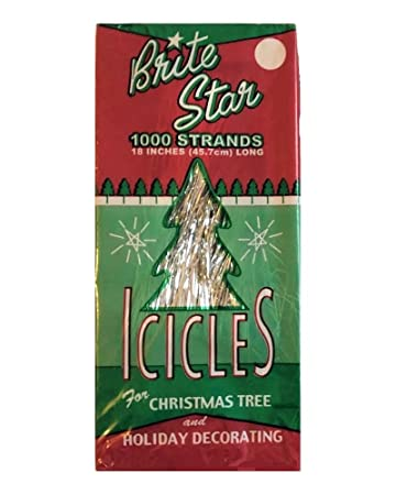 Brite Star Tinsel Icicles, 1000 Strands Per Package - Amazon.com: Brite Star Tinsel Icicles, 1000 Strands Per Package