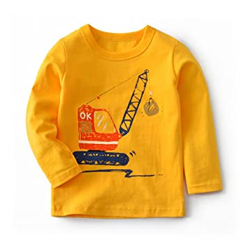 Niños Manga Larga Camiseta Sudaderas Pull-over Algodón Top Blusas Pijama 2-3 Años: Amazon.es: Bebé