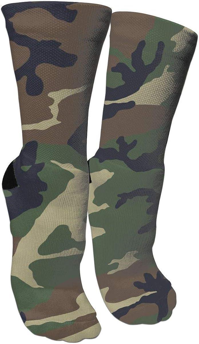 RTZAT Men Women Camouflage Military Fun Crazy Cotton Crew Socks