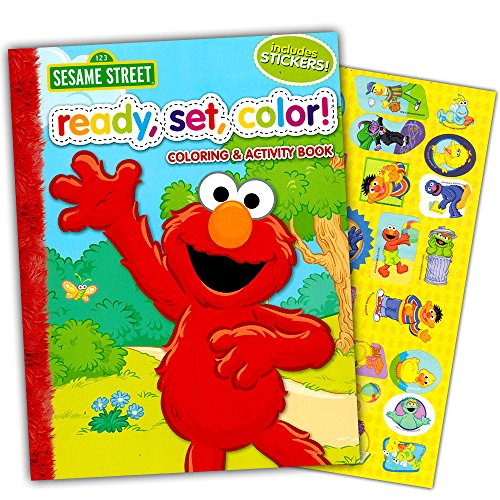 Sesame Street Ready, Set, Color! Coloring and Activity Book with 30 Stickers 144 (Sesame Street Activity Book)