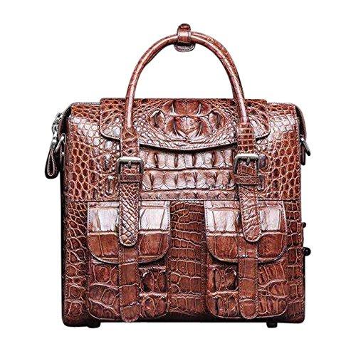 (Crocodile Briefcase Shoulder Cross-body Laptop Business Bag for Men | Rossieviren)