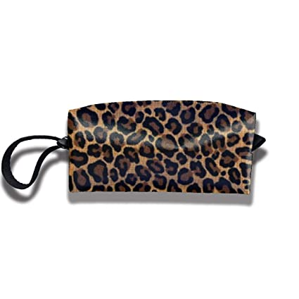 485ca41cb589 Image Unavailable. Image not available for. Color  Teedert Leopard Skin  Fashion Personalized Print Cosmetic Bag ...