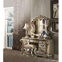 Inland Empire Furnitureu0027s Riva Gold Vanity With Stool