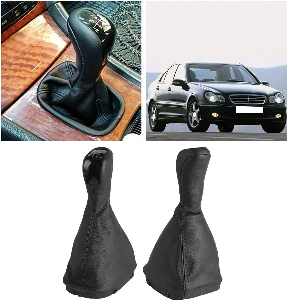 OKBY Knob Gaiter Gear 6-Gang Schaltknauf Gamaschenmanschette f/ür Mercedes Benz C Klasse W203 S203