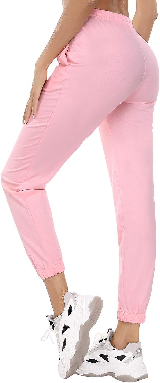 Aiboria Women Sweatpants Active Pants Drawstring Yoga Jogger Workout Sportwear with Pockets Lounge Pants
