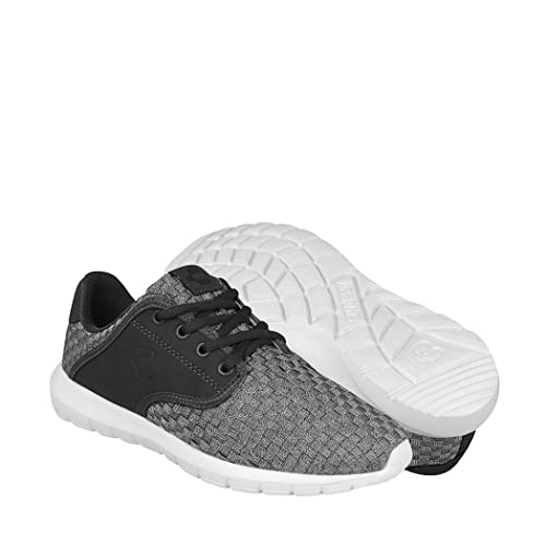 7b0d12c0 CHARLY Tenis Casuales para Mujer Textil Gris Lila 1042002: Amazon ...