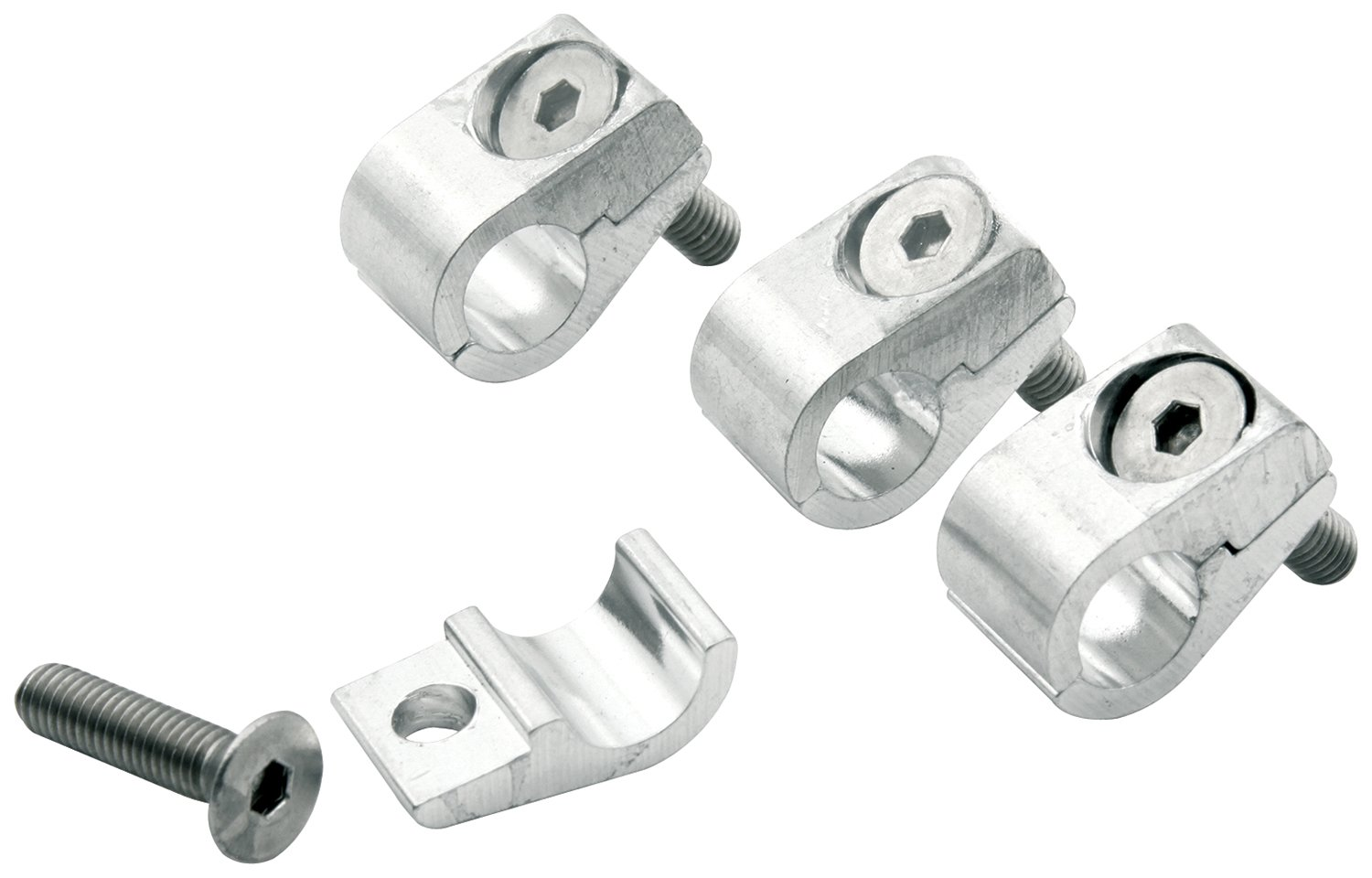 Pack of 4 Allstar ALL18321 1//4 I.D Aluminum Clamp-On Style Universal Line Clamp,