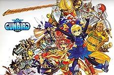"""PremiumPrintsG - Gunbird Sega Saturn PS1 Arcade - XOTH455 Premium Canvas 11"""" x 17"""" (28 cm x 43 cm)"""