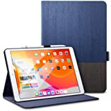 ESR Case for iPad 7th Generation 10.2 inch, Smart Case with Urban Premium Folio Case, [Built-in Pencil Holder] [Book Cover Design] [Multi-Angle Viewing Stand] [Auto Sleep/Wake], Knight