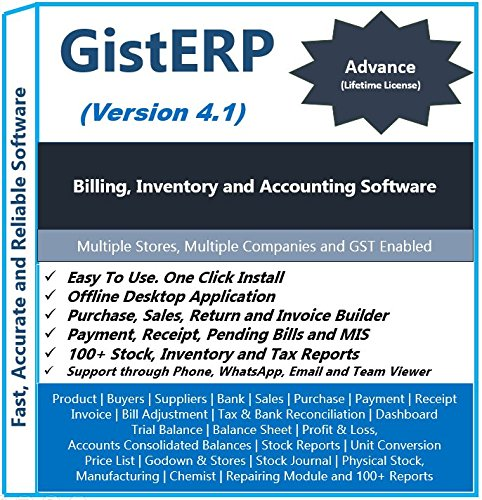 GistERP Accounting, Inventory and Billing Software (Advance) - By Gist  Computer Technology