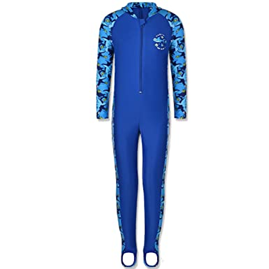 a17c9f11f0b94 Amazon.com  TFJH E Boys Swimsuits Rash Guard Suits Swimwear Toddler ...