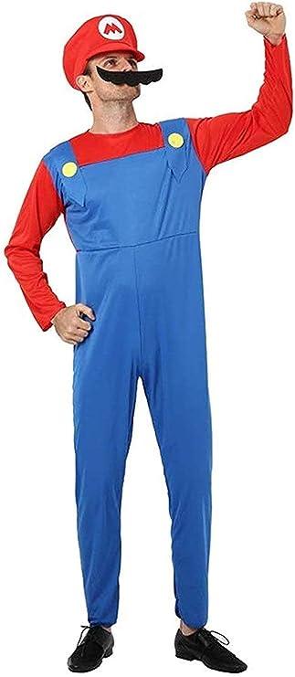 Disfraz de HAMISS Super Mario para adulto, disfraz de Mario ...