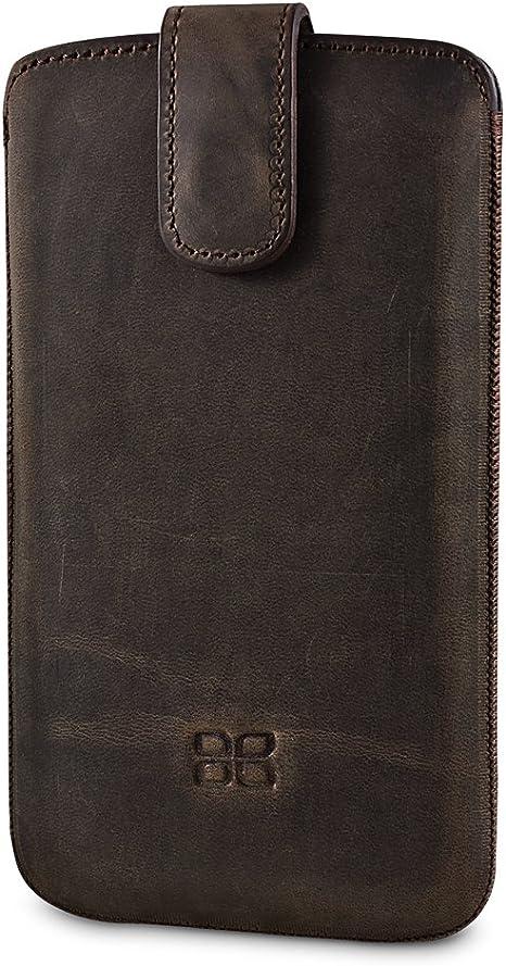 Bouletta MC Antic Coffee Apple iPhone 5S 5 Echt Leder Tasche Etui Hülle Case Handytasche Schutzhülle Frontpolsterung Rausziehlasche 100% Passgenau