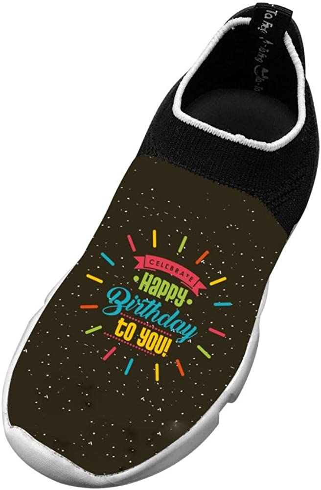 Sports Flywire Weaving Shoe For Unisex Child Print Happy Birthday Card