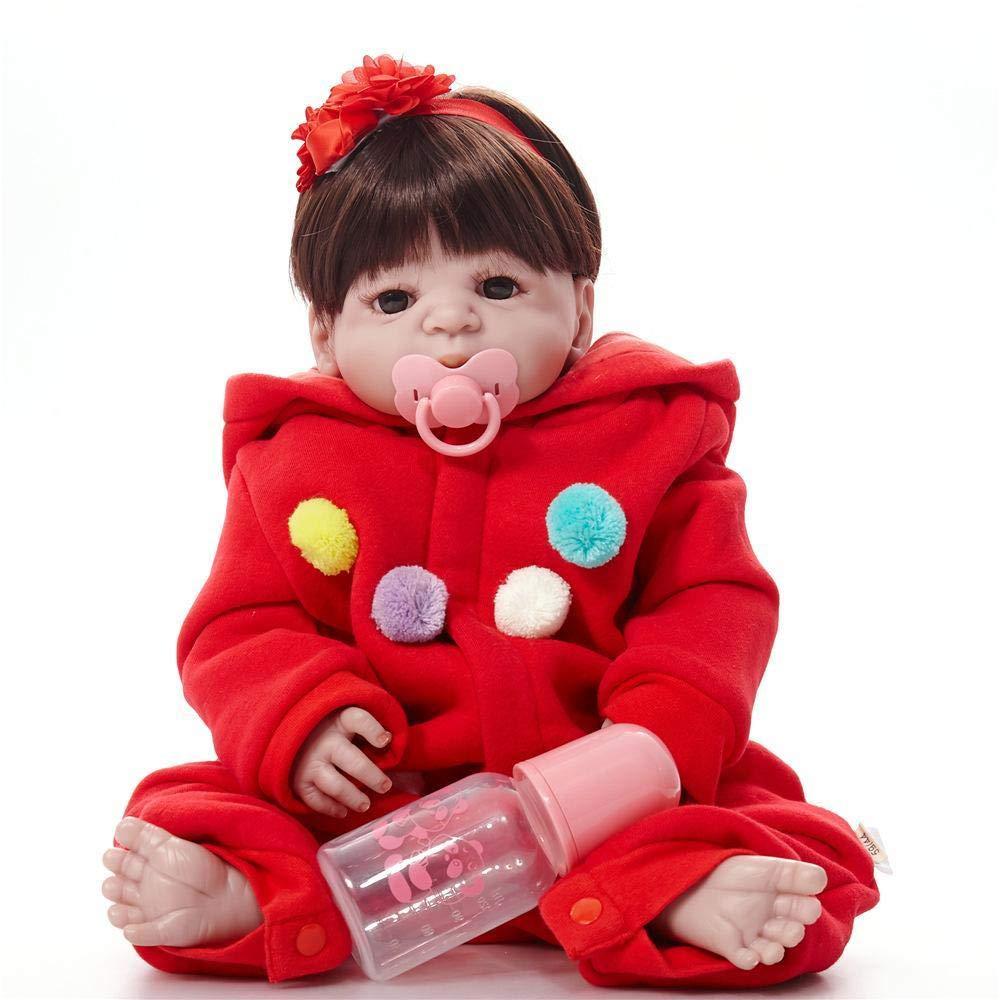 c85a6c14 Hongge Reborn Baby Doll,Realista de Silicona bebé bebé bebé Reborn muñeca  cumpleaños niños Juguetes 58cm 9cc23b