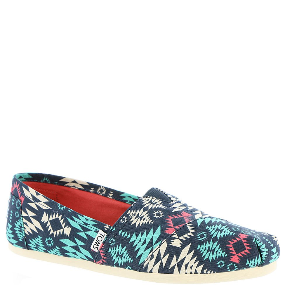 TOMS Womens Aztec Low Top Casual Shoes Blue 6 Medium (B,M)