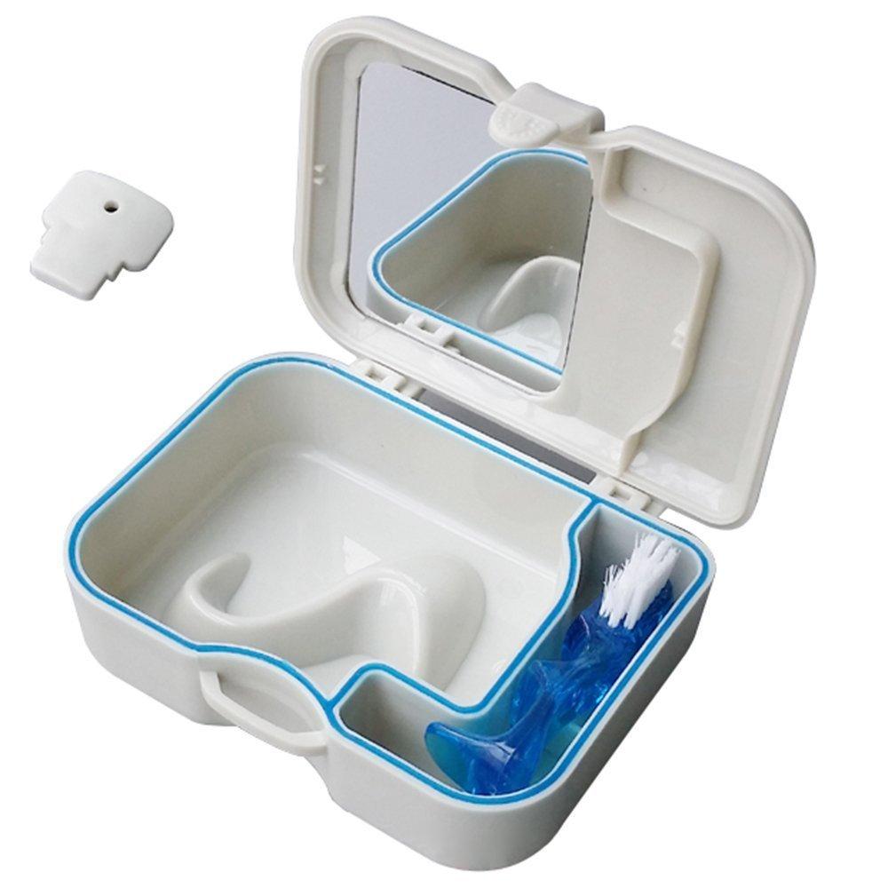 OFKPO Caja Dentadura de Plástico con Espejo y Cepillo: Amazon.es: Electrónica