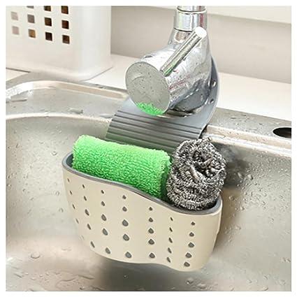 Charmant Sponge Holder   Inkach Sink Caddy Soap Holder   Kitchen Sink Shelf  Organizer Drainer Rack (