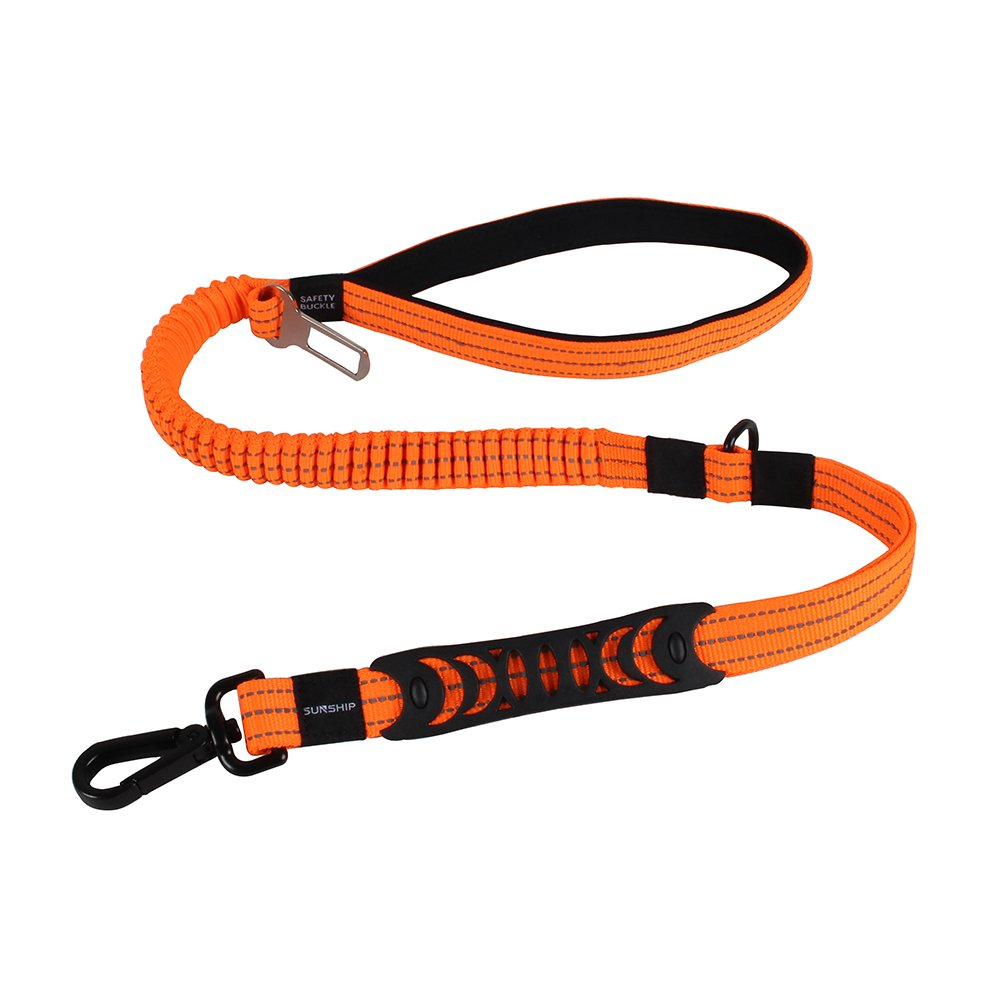 SUNSHIP Dog Leash Multifunction Elasticity Pets Leash-2 Handles dog Training Walking Car Travel