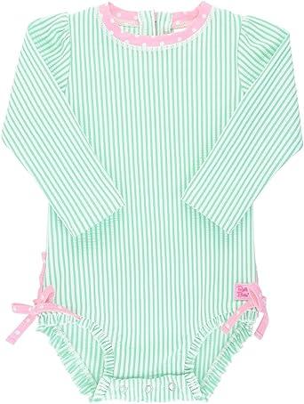 Sun Protective Wide Brim Swimwear Sun Hat RuffleButts Baby//Toddler Girls UPF 50