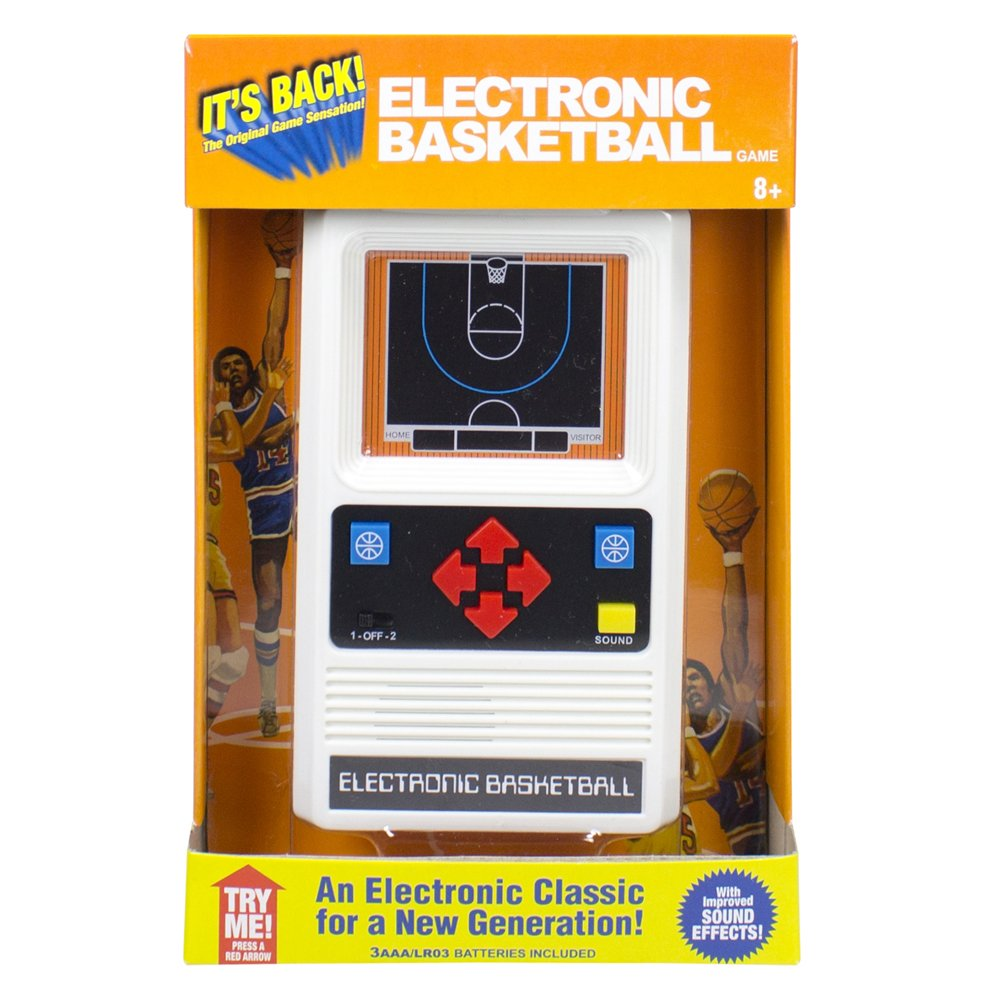 Electronic Retro Sports Game Assortment: Basketball Electronic Games by Basic Fun