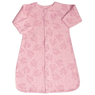 Baby Gown Organic Cotton Fairy Print on Pink