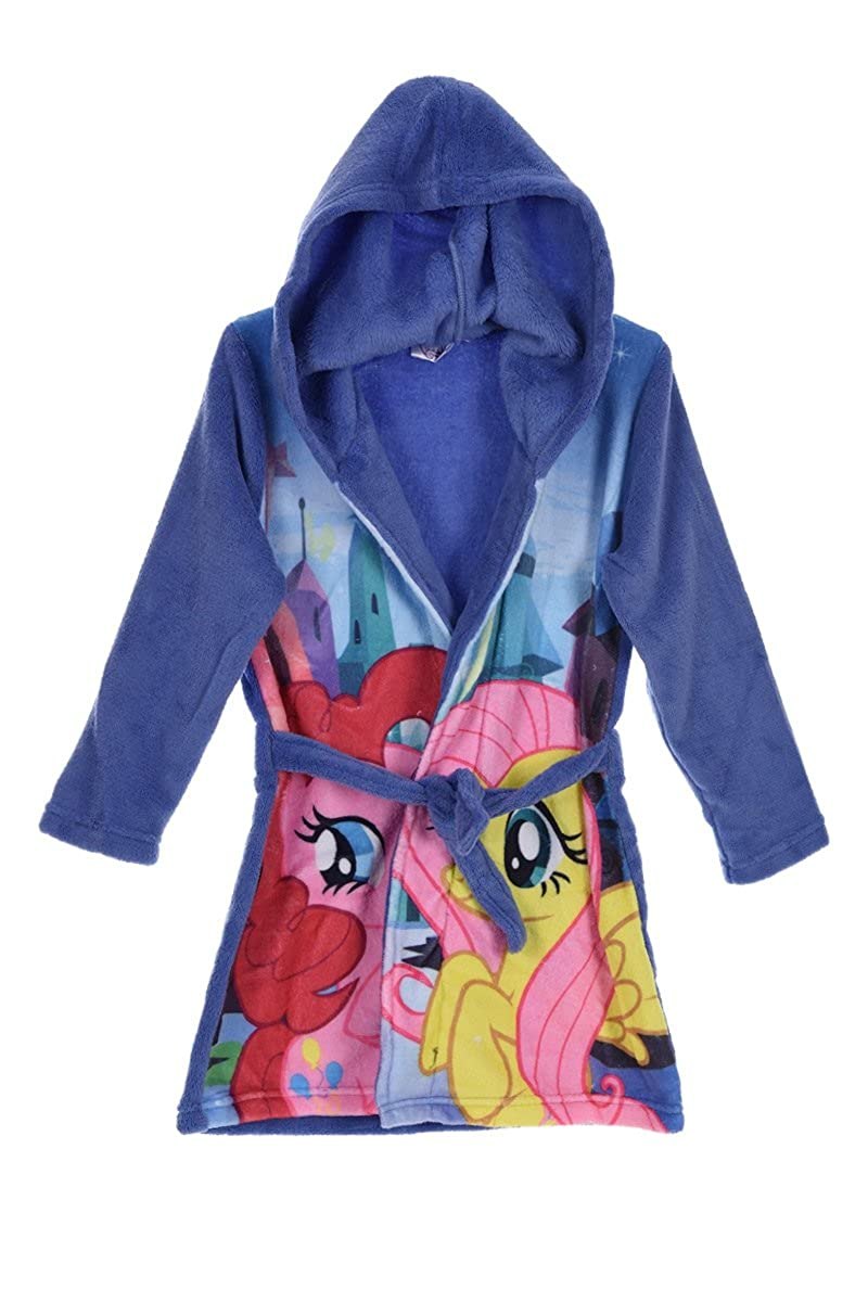 Amazon.com: My Little Pony Bathrobe Dressing Gown With Hood (3 years, Blue): Clothing