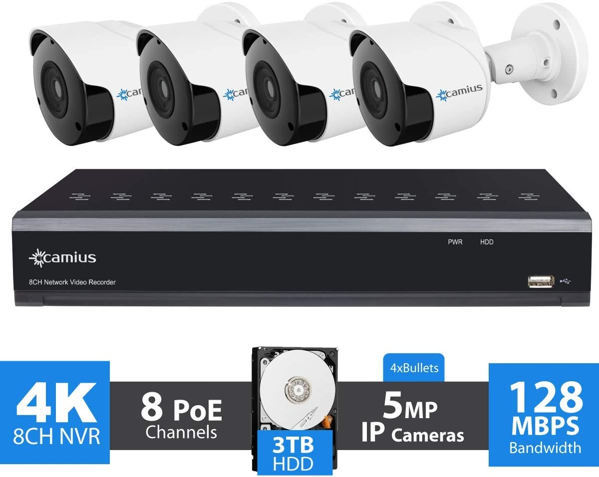 Camius 4K 8 Channel NVR Security System