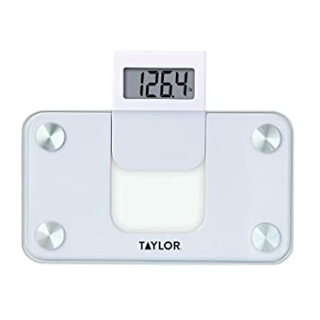 Charmant Taylor Precision Products Digital Glass Mini Scale With Expandable Readout,  White