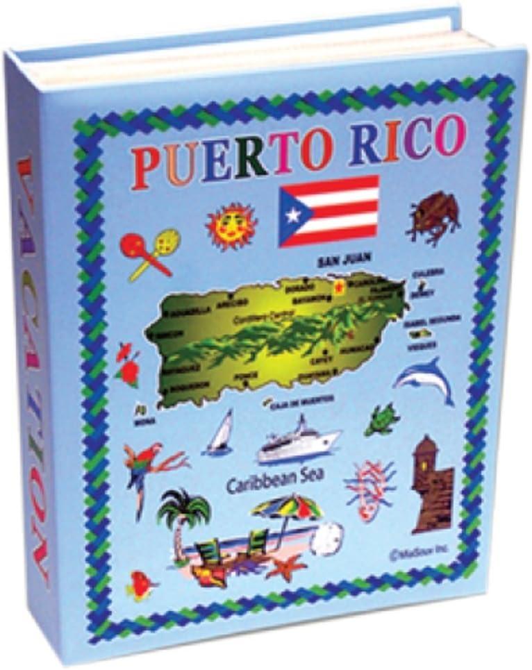Rockin Gear Photo Album Puerto Rico Gift Souvenir Photo Album Holds 100 Pictures 4 x 6 Inch Puerto Rico