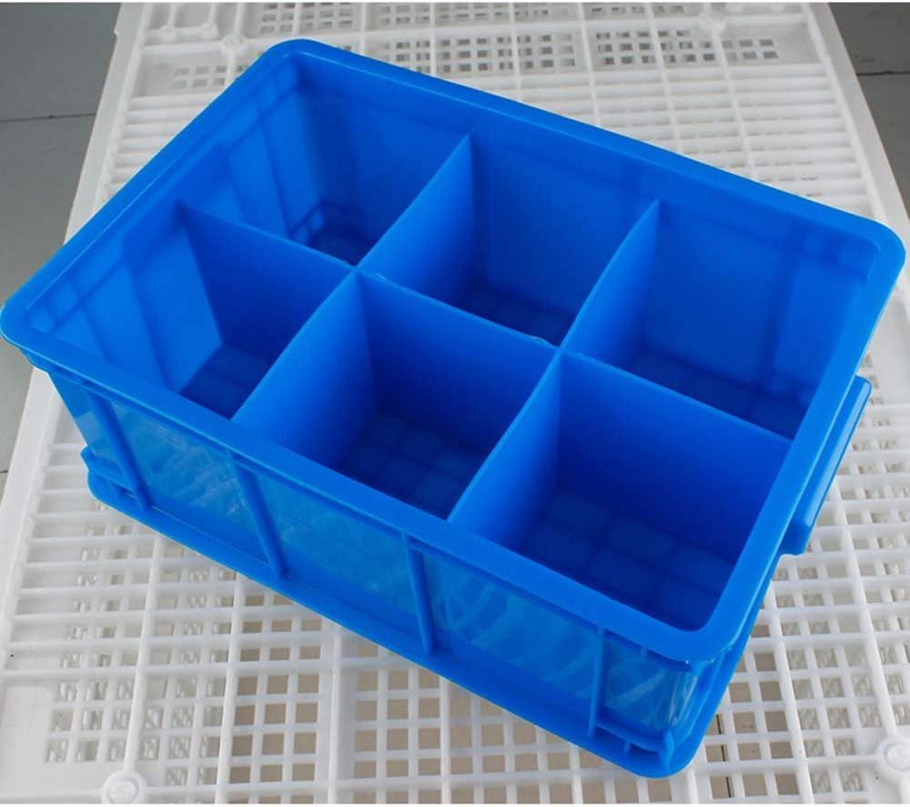 Caja de almacenamiento de plástico 6 Rejilla ambiental Piezas antideslizantes resistentes al desgaste Caja de piezas para tornillos de almacenamiento Clavos Remaches Pernos Arandelas Cajas de almacen: Amazon.es: Hogar