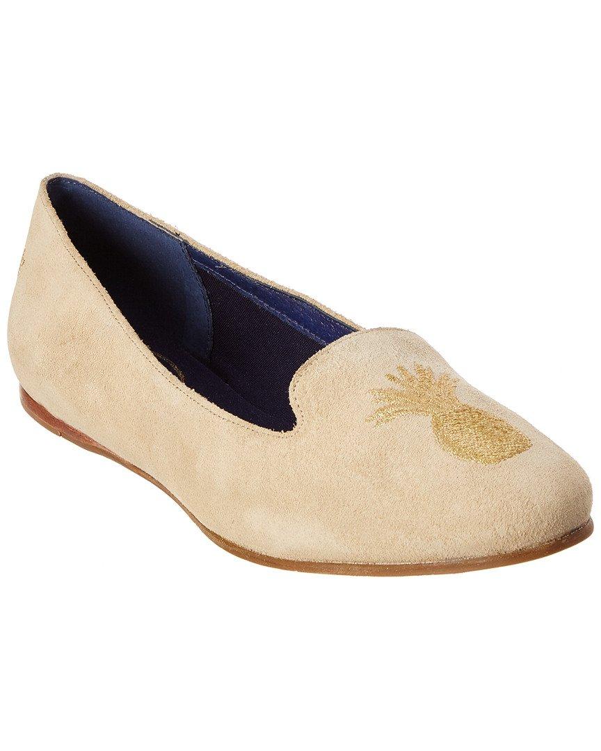 Jack Rogers Women's Anice Suede Ballet Flat B07693DK1S 6.5 B(M) US|Sand