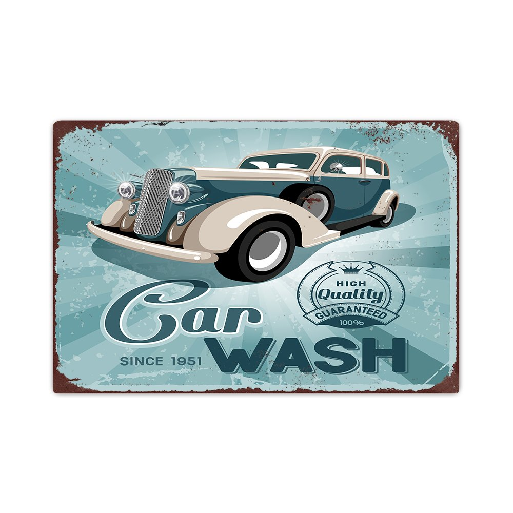 Amazon Com Annastoree Metal Signs Vintage Car Wash Retro Look Metal