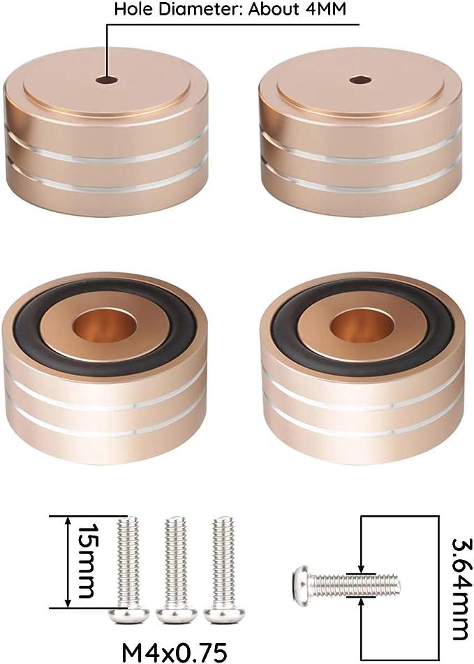 4Pcs Amplifier Isolation Moistureproof Accessories CD Base Speaker Mini Feet Pad