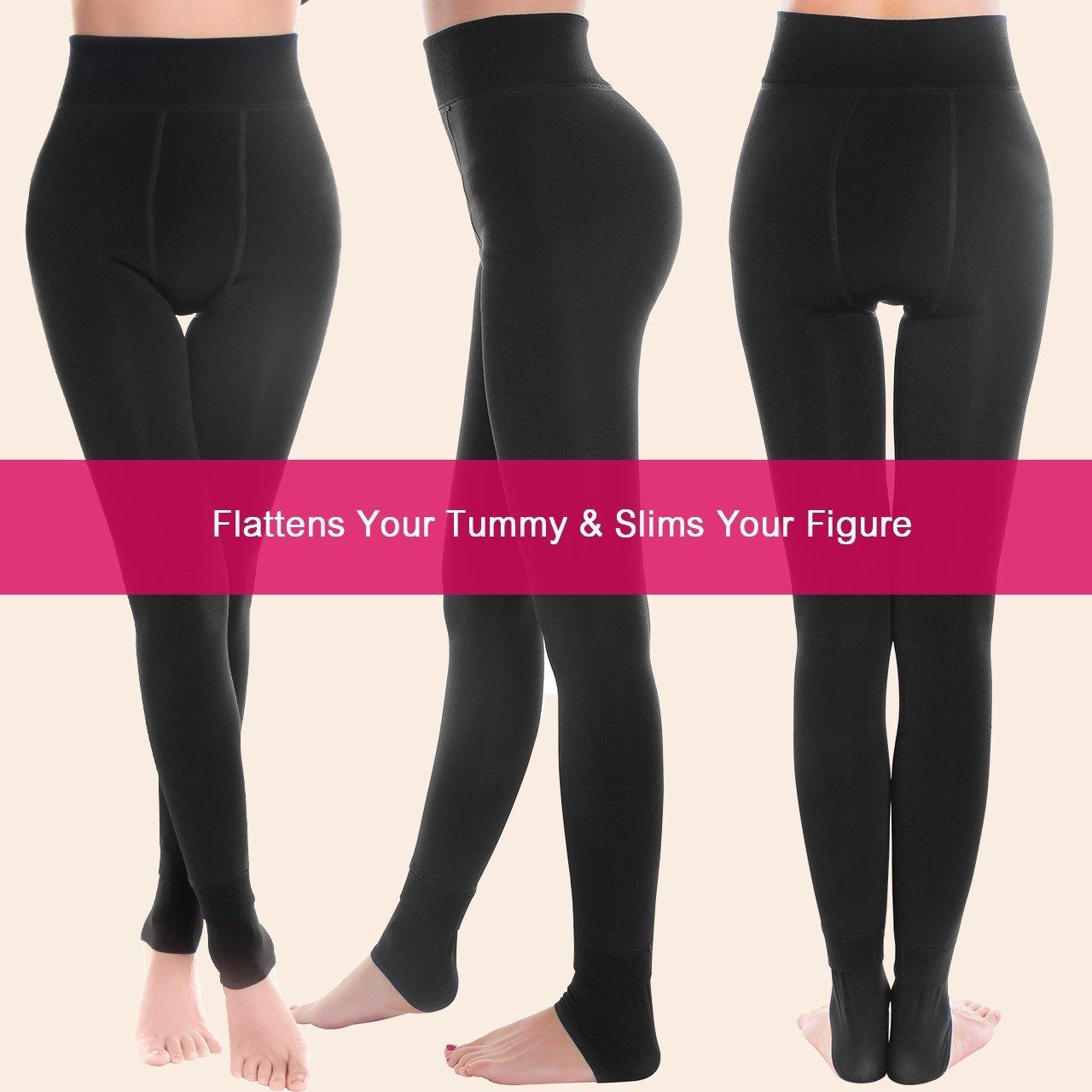 Leggings Mujer para Otoño Frío e Invierno, Pantalones Elásticas Calientes del Invierno de las mujeres de la Cintura alta con Suave y Cómodo ...