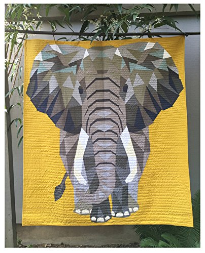 The Elephant Abstractions Quilt - Foundation Paper Piecing Pattern - 54