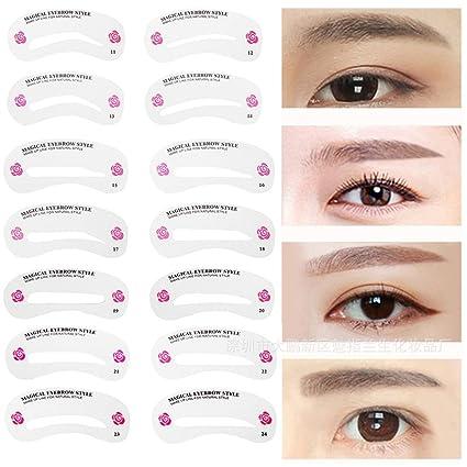 1Set New Fashion Hot 24 Styles Eyebrow Shaping Stencils